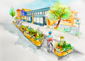 parking day rendering by Kim Smith